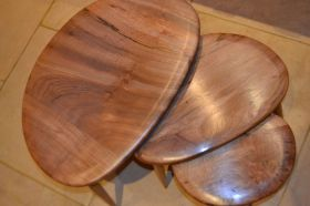 UK solid wood nest of tables