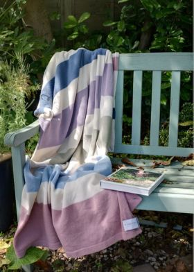 Stripy washable throws